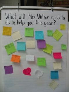 So cute-would love to read all of the student responses!  Great first day of school activity idea!