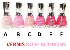 Vernis collection rose bonbon en vente ici http://www.pyramideauxbijoux.com/recherche/rose-bonbon/