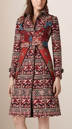 Mirror-Embellished Trench Coat   Burberry