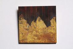 Lucia Massei - Il mare in tempesta / storming sea | brooch, year 2005 shibuichi, yellow gold, fine gold
