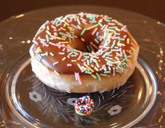 little donuts (cheerios dipped in chocolate and sprinkles). cute!