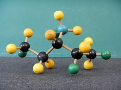 A chloroammonium ion?  Fictional molecule made with a vintage ball-and-stick kit.