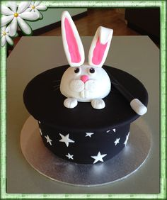 Magicians Hat Cake with a Bunny coming out the top.