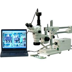 AmScope 2X-225X Trinocular Inspection Stereo Boom Zoom Microscope + 9MP USB Camera $1,799.00