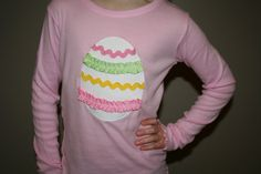 Girls Easter Egg Shirt by AnneMaddoxBoutique #Easteroutfit #CelebrateEaster