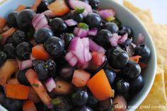 Minted Blueberry Salsa