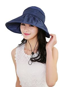 ba177271e32 Sun Hats for Women Zgllywr Summer Wide Brim UV Protection Hat     Want  additional info  Click on the image. (This is an affiliate link)