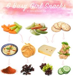 quick and healthy snacks... a must during fashion week!