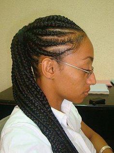 idée coiffure afro nattes collées