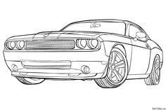 Imágenes de Carros de Carrera para Colorear: Dibujos de ...