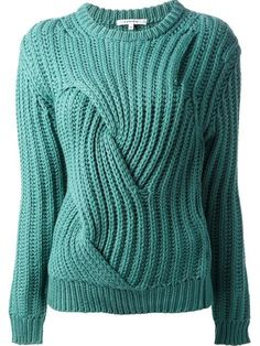 CARVEN chunky cable knit sweater