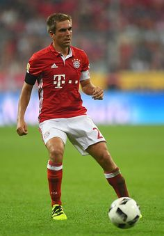 Philipp Lahm of Bayern Muenchen in action during the Bundesliga match between Bayern Muenchen and Werder Bremen at Allianz Arena on August 26 2016 in...