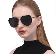 ba5345a4cb Gafas De Sol Espejo Polarizadas Piloto Modernas Mujer 100% Protección UV400