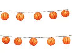 LumaBase Luminarias Electric String Lights with 3 inch Paper Lanterns, Orange Lantern String Lights, Lantern Set, Indoor String Lights, Clear Light Bulbs, White Light Bulbs, Light Bulb Types, Orange Paper, Orange Pink, Purple