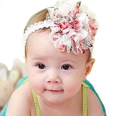Baby Accessories Baby Flower Headband Girl Lace Infant Hair Accessories From Usa Seller Baby Headband Tutorial, Diy Headband, Bow Tutorial, Headband Pattern, Flower Tutorial, Feather Headband, Make Baby Headbands, Lace Headbands, Lace Hair