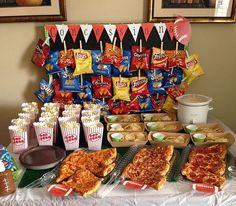 Concession stand for football, baseball, or other sports party: