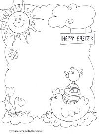 maestra Nella: Pasqua-Disegni da colorare Colouring Pages, Coloring, Happy Easter, Place Card Holders, Clip Art, Make It Yourself, Drawings, Cards, Pictures
