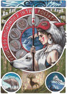 Cross Stitch Pattern ANIME GHIBLI Mononoke 18 by SUNSHINEYDAY0630