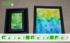 47Paint Chip Art from The Crafty Scientist @Mel the Crafty Scientist