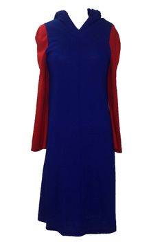 Stephen Burrows VTG 60s Blue and Red Colorblock Hooded Jersey Dress by HauteHeaven on Etsy https://www.etsy.com/listing/265293288/stephen-burrows-vtg-60s-blue-and-red