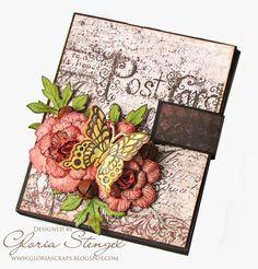 Heartfelt Creations Wednesday - Postcard Rose Mini Album