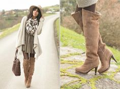 Love this dress and boots.