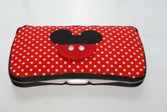 Mickey Mouse Polka Dot Covered Baby Wipes Case -Baby Shower Gift on Etsy, $8.00