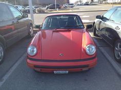 Red Porche with licence plate on April 29,2015