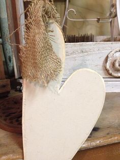 Make your own hearts. Shabby, chic, bold or use your imagination! Love is in the air! Then put your message on it! wedding planning with pj Handmade Wooden Hanging Heart Decor / Rustic by beehindthymemarket, $16.50