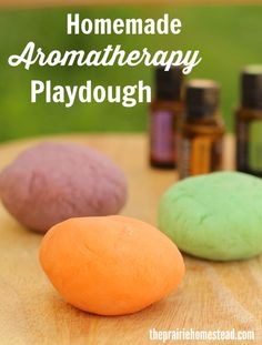DIY aromatherapy playdough recipe with essential oils!