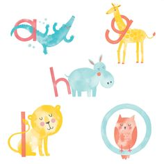 Hello!Lucky Alphabet Birth Announcements