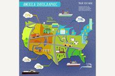 Vector transportation concept. Graphic Design Infographics. $5.00