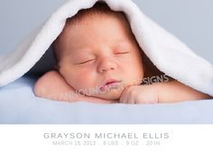 Baby Boy Birth Announcement by BigAnnouncements on Etsy