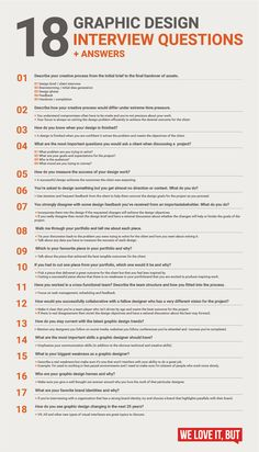 18 graphic design interview questions - infographic 18 essential graphic design interview questions (with answers) that will help you nail your next graphic design job interview. Design Websites, Graphic Design Lessons, Graphic Design Resume, Web Design Quotes, Design Typography, Graphic Design Tutorials, Graphic Design Inspiration, Graphic Designer Cv, Design Posters
