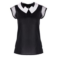 Women Summer Loose Chiffon blouses Sleeveless Vest White Black Tops Blouse camisa feminina -  http://mixre.com/women-summer-loose-chiffon-blouses-sleeveless-vest-white-black-tops-blouse-camisa-feminina/  #BlousesShirts