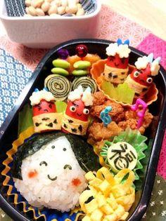Hinamatsuri bento for Japanese doll's festival Kawaii Bento, Cute Bento, Japanese Lunch Box, Japanese Food, Japanese Style, Cute Food, Yummy Food, Bento Recipes, Bento Ideas