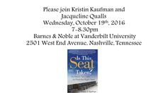 Please join us in a few weeks....the evening will be INCREDIBLE!! For more info: kristinkaufman.com