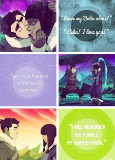 the only reason I am excited for season three of korra is my hope that Bolin and Eska will reunite<3