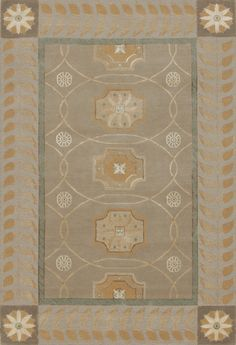 Corinth, sand – This collection combines traditional patterns with a modern day aesthetic to create perfect designs for a transitional style.  These classically refined and ethically crafted Tibetan rugs combine the unique style and unequaled craftsmanship that New Moon is best known for.