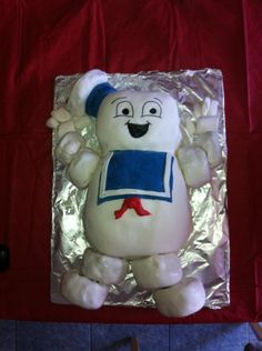 Dr. Frankman's Stay Puft cake for 6 yo Thomas! - Fan Art - Ghostbusters Fans