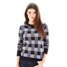 Joe Fresh™ Plaid Print Sweater  found at @JCPenney