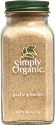 Simply Organic Garlic Powder -- 3.64 oz by Simply Organic. Save 22 Off!. $4.68. A way to eat. Simply Organic. A way to eat. The way to live. We're here to fill your life with honest-to-goodness good food. The kind of food that you remember, deep down. Fresh, Wholesome, Brimming with flavor and life. It can only be found in organically grown foods.