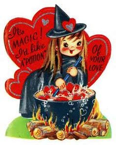 vintage witch - Cute Halloween Witches