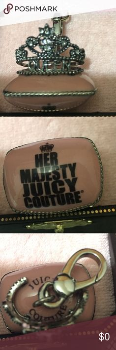 Juicy Couture Charm Juicy Couture Tiara On a Pink Pillow Charm. Absolutely in amazing condition. NWT. Not for sale, just sharing from my personal collection. Thanks for looking! Juicy Couture Jewelry