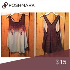 """NWT size medium tank Brand new with tags!!! Our boutique purchased vendor """"grab bags"""" for an event and decided to not set up a booth. Our loss is your gain!! Check out my other listings for these boutique singles :) or check us out on fb at MDBoutique Tops Tank Tops"""