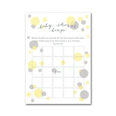 Baby Shower Game Idea: Baby Shower Bingo! This kit comes with cards and mini-pencils, so it's easy to execute! #PNshop