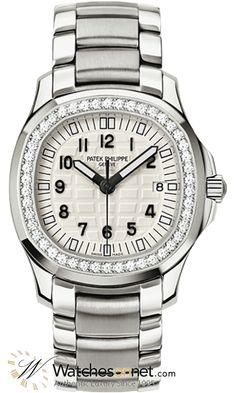 95b5f1099 Patek Philippe Aquanaut Quartz Women's Watch, Stainless Steel, White Dial,  5087/1A-010