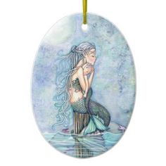 Nonetheless Waters Mermaid Mom and Toddler Child Bathe Ceramic Decoration. ** See even more by visiting the photo link