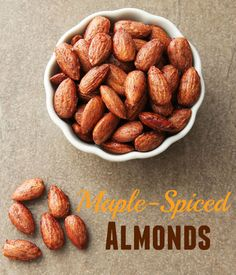 A quick, easy, and delicious recipe for roasted, maple-spiced almonds.