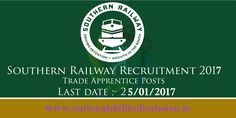 Southern Railway-Recruitment-148 Trade Apprentices-Advt. No. : 03/2016-Apply Online-Last date 25 January 2017  Advt. No. : 03/2016 Job Details :  Post Name : Act Apprentices No. of Vacancy : 148 Posts Trades Wise Vacancies :   Fitter : 61 Posts Welder : 15 Posts Turner : 06 Posts Machinist : 06 Posts Electrician : 28 Posts Mechanic Diesel : 24 Posts Electronics Mechanic : 03 Posts Carpenter : 01 Post Medical Laboratory : 04 Posts Eligibility Criteria :  Educational Qualification :